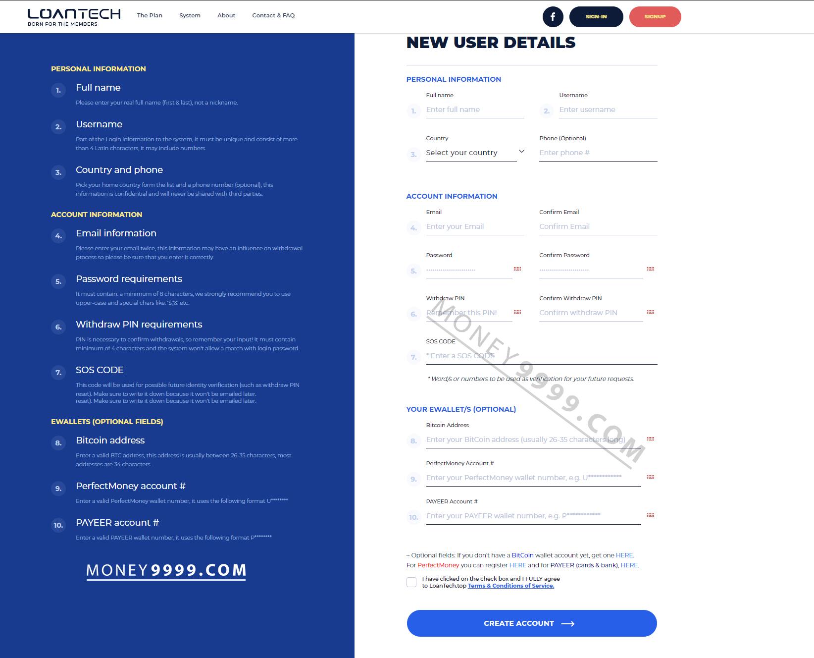 Techloan Register