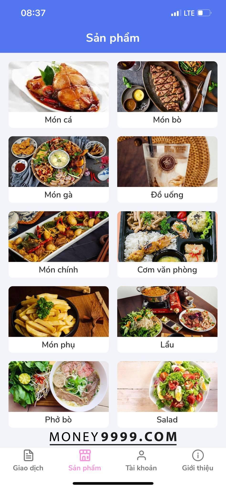 Đặt đồ ăn, thanh toán bằng Voucher